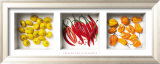 Chilies and Patissons Reproduction encadrée par Dave Brullmann