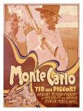Monte-Carlo - Tir aux pigeons Giclée par Adolfo Hohenstein