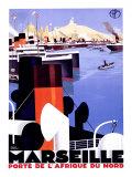Marseille Giclée par Roger Broders