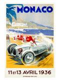 Grand Prix de Monaco, 1936 Giclée par Geo Ham