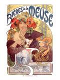 Bières de La Meuse Giclée par Alphonse Mucha