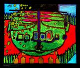 Three-Eyed Green Buddha with Hat  c1963