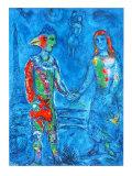 Couple in Blue Reproduction pour collectionneurs par Marc Chagall