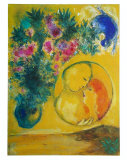 Sun and Mimosas Reproduction d'art par Marc Chagall