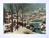 Winter, Hunters in the Snow Reproduction pour collectionneurs par Pieter Bruegel The Elder