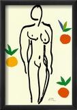 Nu Aux Oranges Reproduction encadrée par Henri Matisse