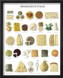 Italian Cheese Reproduction encadrée