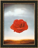 Rose méditative, 1958 Reproduction encadrée par Salvador Dalí