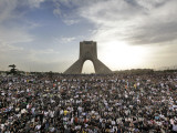 Supporters of Candidate Mir Hossein Mousavi Protest the Election Result at a Mass Rally in Tehran