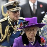 Queen Elizabeth II and Prince Philip Arrive for Remembrance Day Service  Westminster Abbey  London