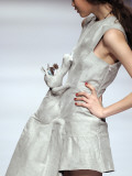 Model Displays a Creation by University Graduates During China Fashion Week in Beijing