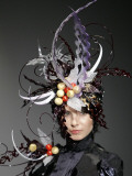Model Displays a Creation by Pastry Chef Koichi Izumi During the Tokyo Sweets Collection 2009