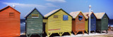 Colorful Huts on the Beach  St James Beach  Cape Town  Western Cape Province  South Africa