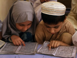 Children Read Together from Muslim's Holy Quran in Karachi  Pakistan