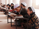 Students Read the Holy Quran During a Class in Herat  Afghanistan