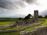Remains of the Church on St Patrick's Hill  Slane  Co Meath  Ireland