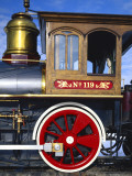 Old Fashioned Steam Train at Golden Spike National Historic Site  Great Basin  Utah