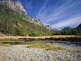 Rocky Mountains with Forest and Wilderness Near River  Bridger Teton National Forest  Wyoming  USA