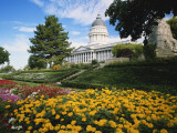 Utah State Capitol Building and Garden  Salt Lake City  Utah  USA