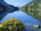 Hidden Lake  Glens Peak  Sawtooth Mountains  Sawtooth National Reservation Area  Idaho  USA