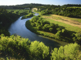 The Niobrara River Near Valentine  Nebraska  USA