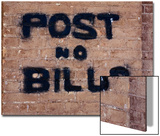 """""""Post No Bills on Brick Wall"""" at Million Dollar Lincoln County Courthouse  Pioche  Nevada"""
