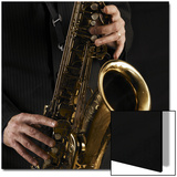Male Hands Playing Saxophone