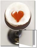 An Egg with the Yolk in Heart Shape