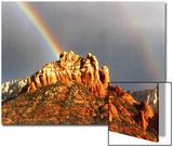 Rainbow over Snoopy Rock  Sedona  Arizona  USA