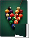Pool Balls Arranged in a Heart Shape