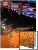 Moored Gondolas in Venice  Italy