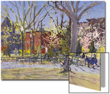 Watercolor Painting of a Park Scene