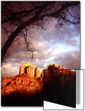 Sunset Sky over Cathedral Rock  Sedona  Arizona  USA