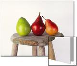 Still Life of 3 Pears on a Milk Stool