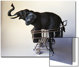 Profile Toy Elephant in Toy Supermarket Cart