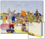 Watercolor Painting of a Beach Scene