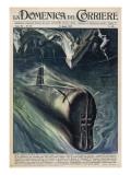 American Submarine 'Nautilus' Passes Below the North Pole
