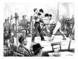 Boxing Match at a Men's Club  London  1889
