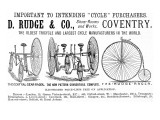 Advertisement for Cycles and Tricycles by D Rudge and Co