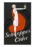 Cider an Elegant Lady Holding Out a Glass of Bubbling Cider Giclée