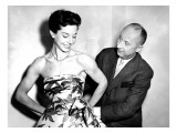 Christian Dior with Model Dorothy Emms  1952