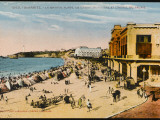 The Grande Plage at Biarritz  with the Casino and the Hotel Du Palais