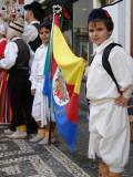 Gaula Boys with Flag, Funchal, Madeira Papier Photo