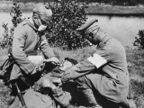 German Medics Using an Oxygen Machine on the Western Front During World War I