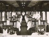 Railway Dining Car with Waiters