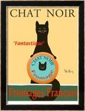Chat Noir II - Black Cat Reproduction édition limitée encadrée par Ken Bailey