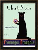 Chat Noir - Black Cat Reproduction édition limitée encadrée par Ken Bailey