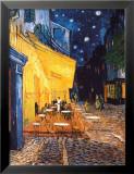 Terrasse de café le soir, place du Forum, Arles, 1888, Reproduction laminée et encadrée par Vincent Van Gogh