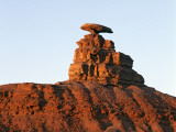 Mexican Hat Rock Formation Against Blue Sky  Utah  Usa
