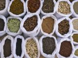 China  Silk Road  Xinjiang Province  Kashgar  Grains and Spices in Sacks at Local Market